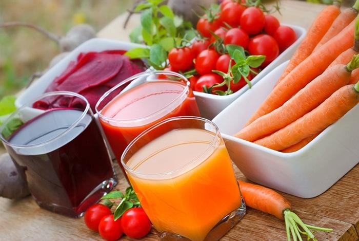bổ sung các loại nước ép trái cây thanh mát, ít đường