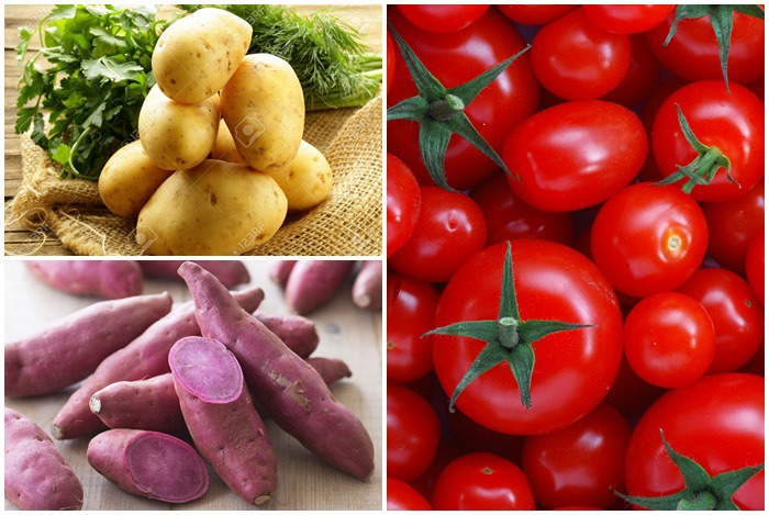 cà chua kỵ khoai lang, khoai tây