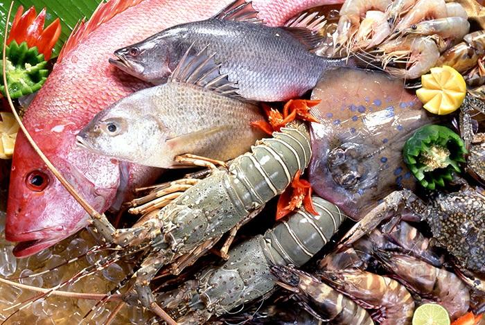 chọn hải sản tươi sống