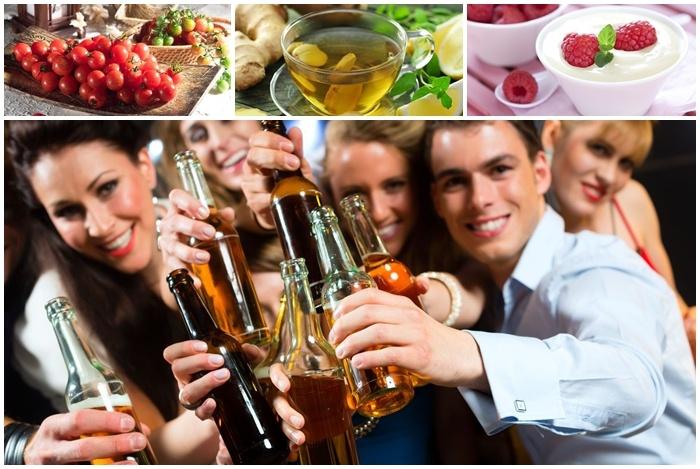 giúp bạn tỉnh táo hơn nhờ thực phẩm giải rượu