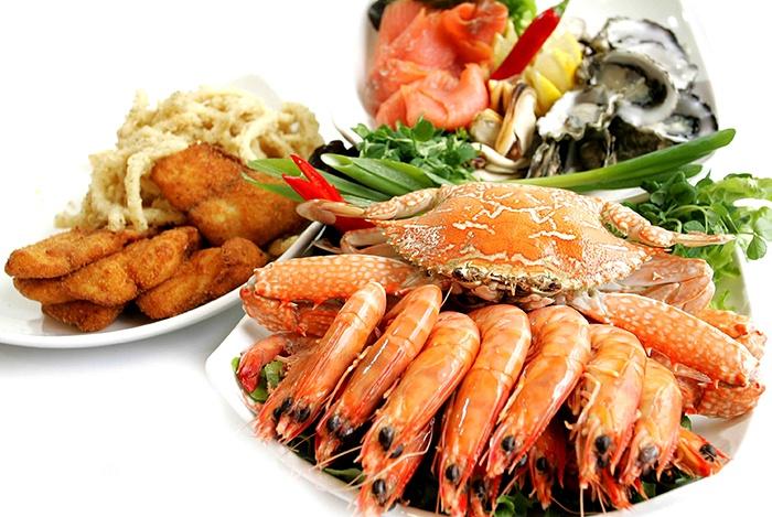 hải sản là thực phẩm tăng chiều cao vì chứa nhiều canxi
