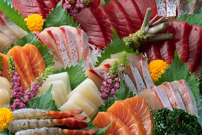 hải sản tươi sống là thực phẩm tốt cho da