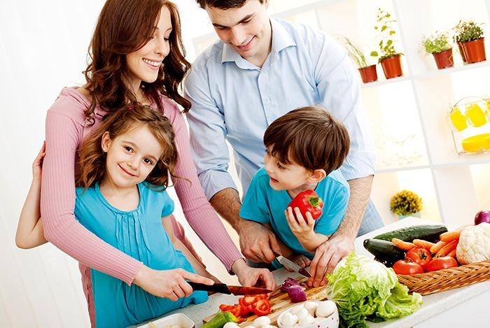 sử dụng thực phẩm hữu cơ trong các bữa ăn gia đình