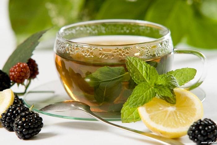 trà xanh chứa chất chống oxi hóa giúp giảm eo
