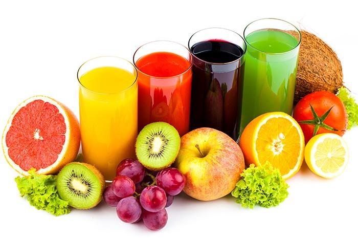 trái cây và các loại nước ép giúp tăng cân hiệu quả