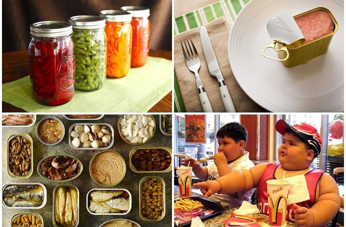 tác hại khôn lường khi ăn nhiều thực phẩm đóng hộp