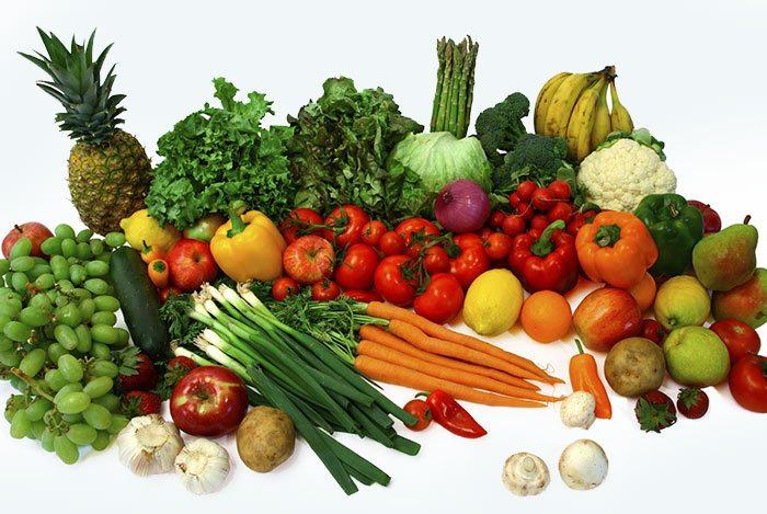Rau quả cho ăn chay