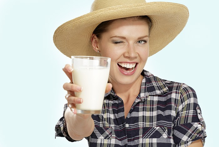 Uống sữa rất tốt