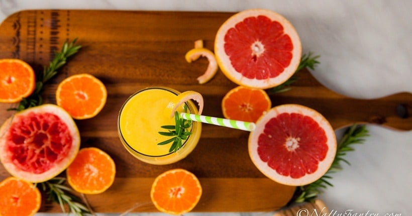 Nước ép trái cây giảm mỡ bụng bằng bưởi