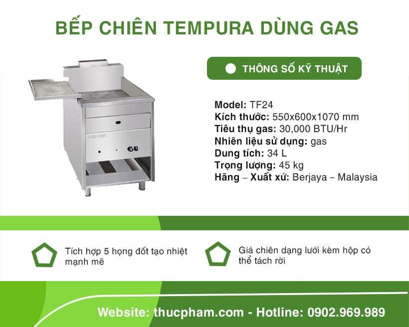 Bếp Chiên Tempura Dùng Gas Berjaya