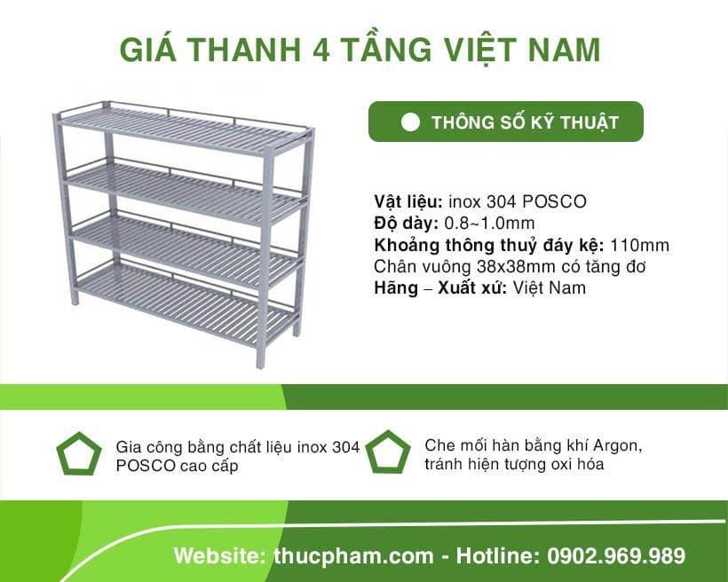 Giá Thanh 4 Tầng Việt Nam