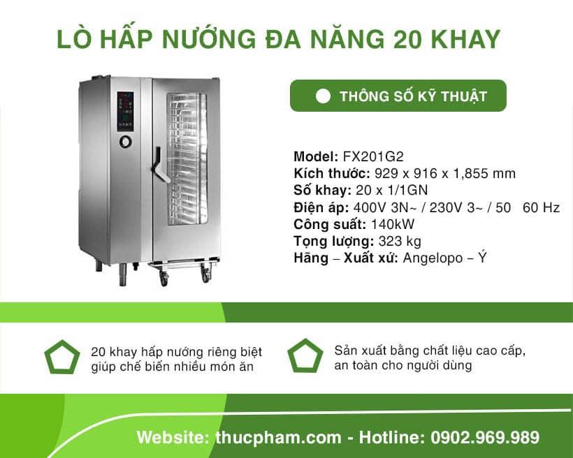 Lò Hấp Nướng Đa Năng 20 Khay Angelopo