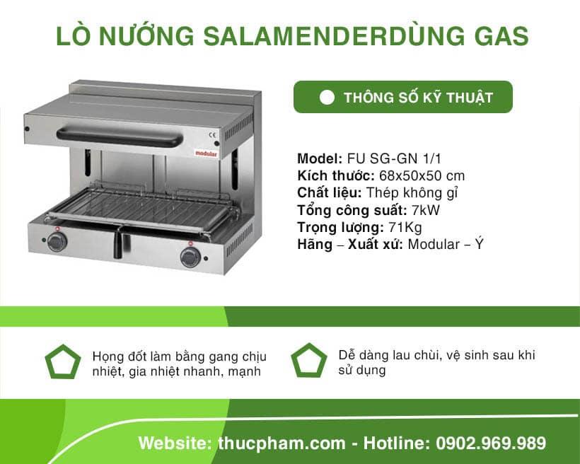 Lò Nướng Salamander Dùng Gas Modular