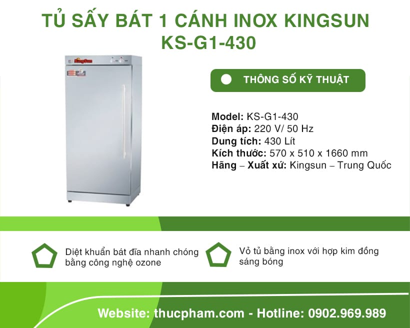 tu-say-bat-1-canh-inox-kingsun-ks-g1-430