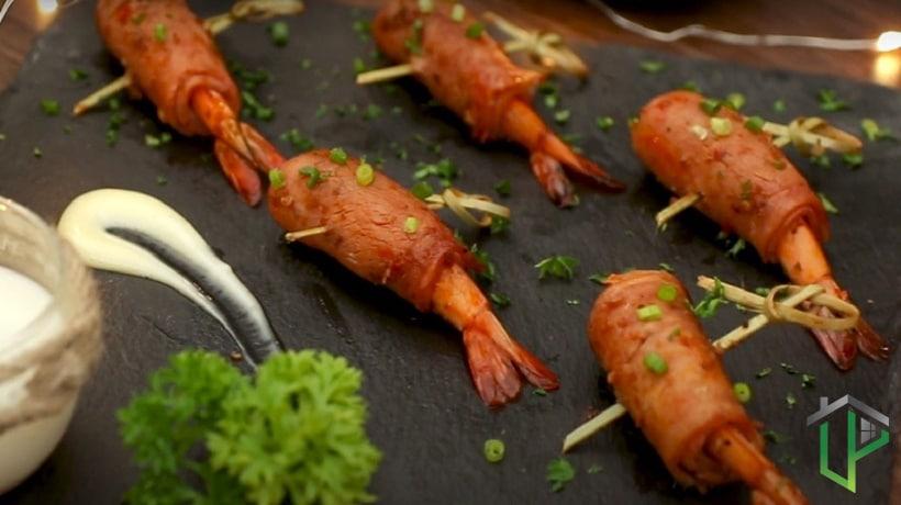 Tôm Nướng Cuộn Thịt Xông Khói Ảnh 2