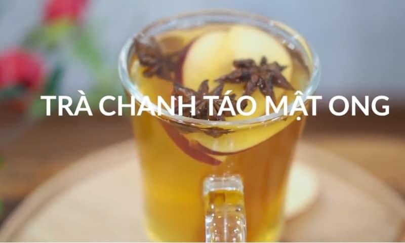 trà chanh táo mật ong