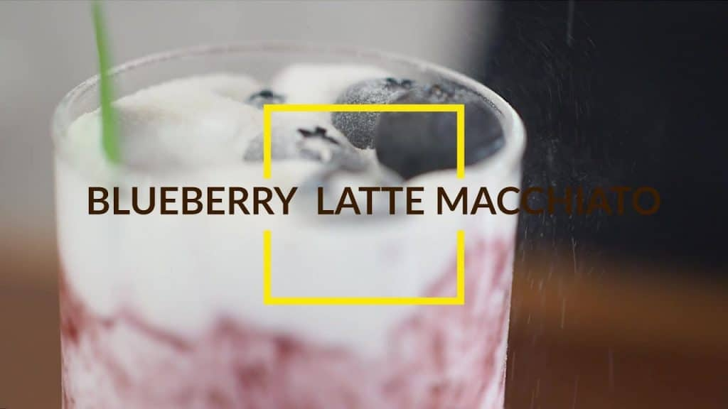 cách pha chê blueberry latte macchiato