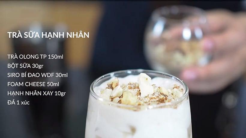 Trà sữa hạnh nhân