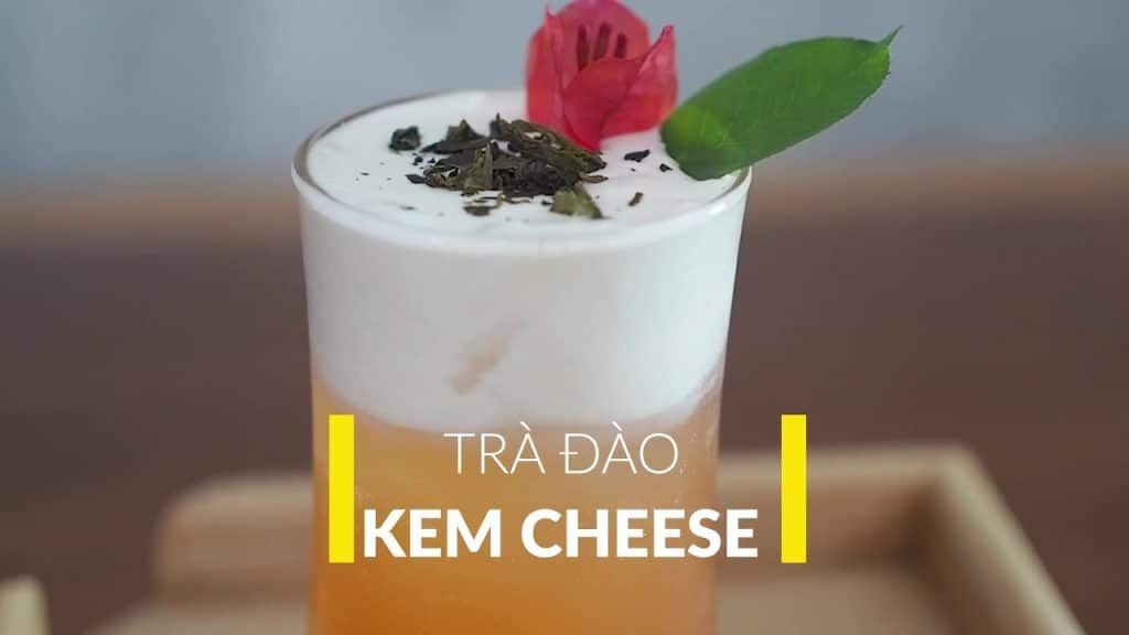 trà đào kem cheese